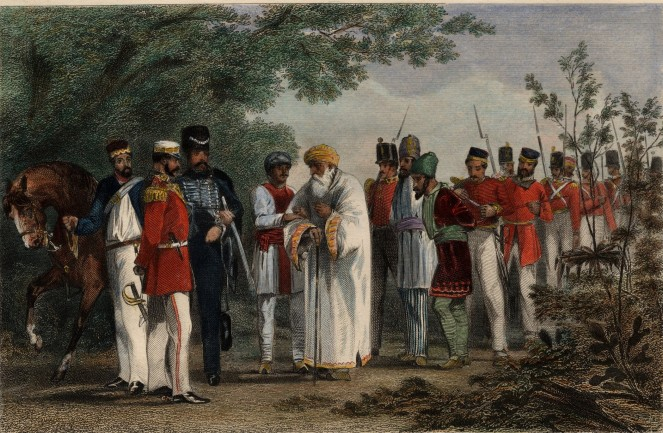 Capture of BahadurShah by Hodson, Brown library
