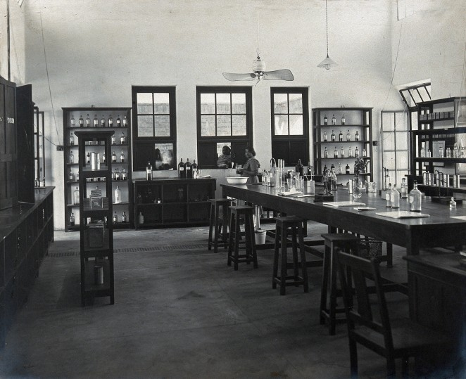 Lady Hardinge Medical College and Hospital, 1921, Pharmacy [Wellcome Collection]